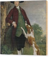 Portrait Of George Venables Vernon Wood Print by Thomas Gainsborough