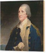Portrait Of George Washington Wood Print
