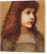Portrait Of Gertie Lewis Wood Print