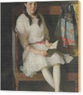 Portrait Of Gertrude Russell Wood Print