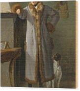 Portrait Of Gottlieb Christian Heigelen As A Hunter Wood Print