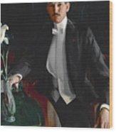 Portrait Of Harald Bildt Wood Print