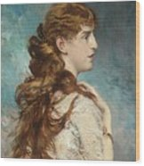 Portrait Of Harriet Valentine Wood Print