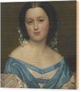 Portrait Of Henriette Mayer Van Den Bergh, At And By Jozef Van Lerius Wood Print