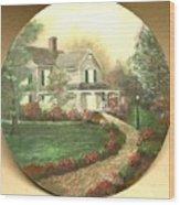 Portrait Of Home Wood Print