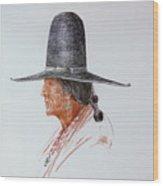 Portrait Of Indian Wood Print