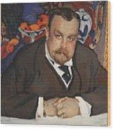 Portrait Of Ivan Morozov 1910 Valentin Serov Wood Print