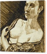 Portrait Of Jacqueline Wood Print