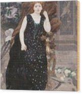 Portrait Of Jane Hading , Alfred Roll Wood Print