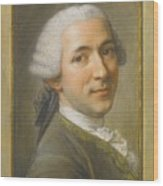 Portrait Of Jean Claude Gaspard Wood Print