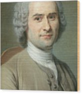 Portrait Of Jean Jacques Rousseau Wood Print