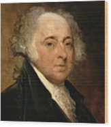 Portrait Of John Adams Wood Print