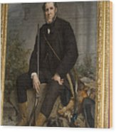 Portrait Of John Bowes Wood Print by Carl Purcell