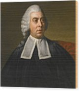Portrait Of John Lee Attorney-general Wearing Legal Robes Wood Print