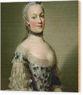 Portrait Of Katarzyny Z Zamoyskich Mniszchowej Wood Print