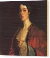 Portrait Of Katherine Cecil Sanford Wood Print