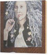 Portrait Of Kiki Smith Wood Print