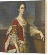 Portrait Of Lady Elizabeth Compton Later Countess Of Burlington Wood Print