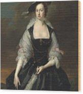 Portrait Of Lady Frances Courtenay Wood Print