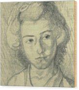 Portrait Of Lenore Wood Print
