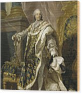 Portrait Of Louis Xv Of France Wood Print