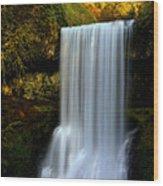 Portrait Of Lower South Falls Wood Print