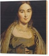 Portrait Of Madame Ingres Wood Print