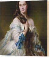 Portrait Of Madame Rimsky Korsakov Wood Print by Franz Xaver Winterhalter