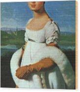 Portrait Of Mademoiselle Riviae 1805 Wood Print