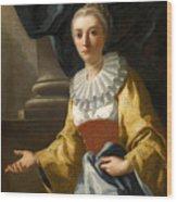 Portrait Of Maria Cavalcanti Ametrano Duchess Of San Donato Wood Print