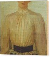 Portrait Of Maria Tolstaya Leo Tolstoy Daughter Wood Print