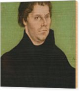 Portrait Of Martin Luther Wood Print