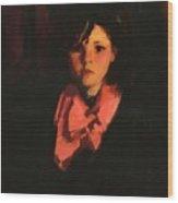Portrait Of Mary Ann 1926 Wood Print
