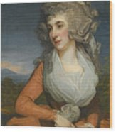 Portrait Of Mary Livius Wood Print