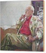 Portrait Of May Dancig Wood Print