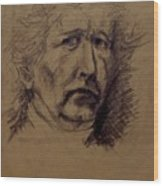 Portrait Of Middle Aged Man Wood Print