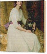 Portrait Of Miss Dorothy Dicksee  Wood Print
