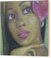 Portrait Of Monica Wood Print