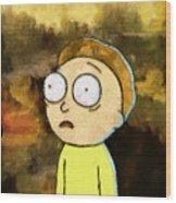 Portrait Of Morty Wood Print