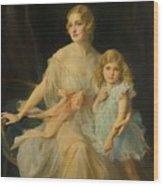 Portrait Of Mrs Claude  Wood Print