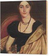 Portrait Of Mrs Devauay Wood Print