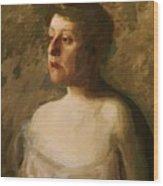 Portrait Of Mrs W H Bowden 1906 Wood Print