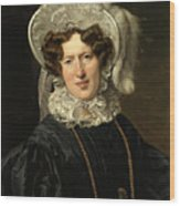Portrait Of Mrs Wartfeld Wood Print