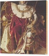 Portrait Of Napolan On The Imperial Throne 1806 Wood Print