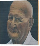 Portrait Of Old Man In St. Louis Wood Print