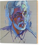 Portrait Of Paulinho - Guitarist-singer - In Progress 2 Wood Print
