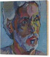 Portrait Of Paulinho - Guitarist-singer In Progress Wood Print by Piotr Antonow