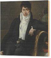 Portrait Of Pierre-jean-george Cabanis Wood Print