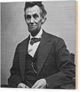 Portrait Of President Abraham Lincoln Wood Print by International  Images