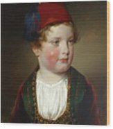 Portrait Of Prince Victor Odescalchi  In Greek Costume At The Age Of Five Wood Print
